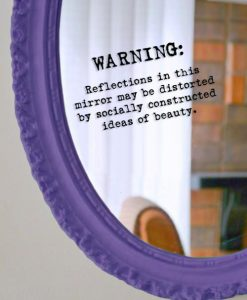 body image mirror sticker