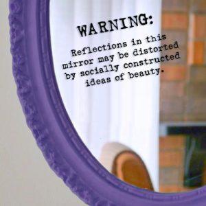 body image mirror sticker